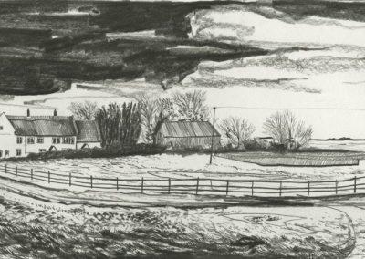 The Broads, Norfolk - walk 3 #62 - mixed media drawing