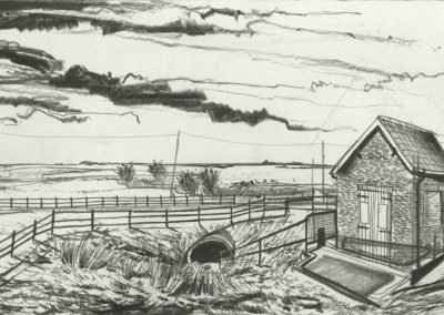 The Broads, Norfolk - walk 3 #63 - mixed media drawing