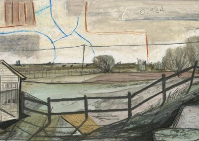 The Broads, Norfolk - walk 3 #66 - mixed media drawing