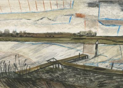 The Broads, Norfolk - walk 3 #67 - mixed media drawing