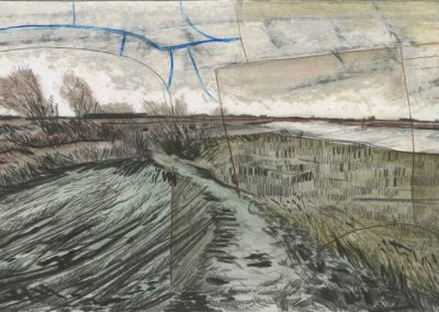 The Broads, Norfolk - walk 3 #68 - mixed media drawing