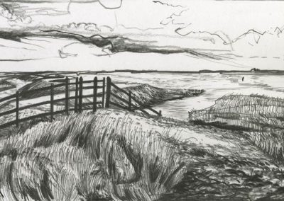 The Broads, Norfolk - walk 3 #69 - mixed media drawing
