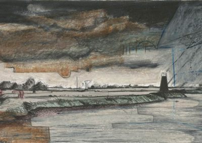 The Broads, Norfolk - walk 3 #71 - mixed media drawing