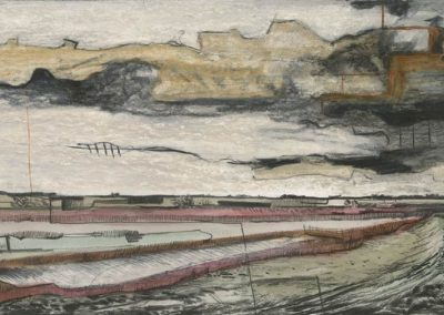The Broads, Norfolk - walk 3 #73 - mixed media drawing
