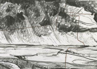 The Broads, Norfolk - walk 3 #75 - mixed media drawing
