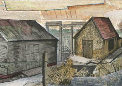 The Broads, Norfolk - walk 3 #77 - mixed media drawing