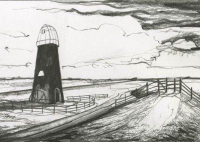 The Broads, Norfolk - walk 3 #79 - mixed media drawing