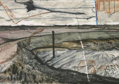 The Broads, Norfolk - walk 3 #82 - mixed media drawing