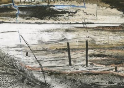 The Broads, Norfolk - walk 3 #83 - mixed media drawing