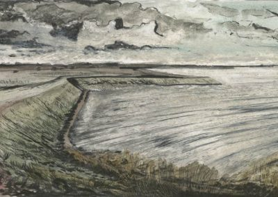 The Broads, Norfolk - walk 3 #84 - mixed media drawing