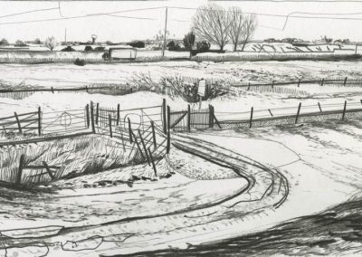The Broads, Norfolk - walk 3 #85 - mixed media drawing