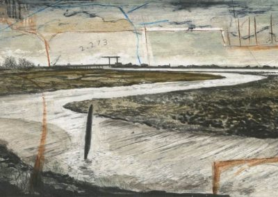 The Broads, Norfolk - walk 3 #87 - mixed media drawing