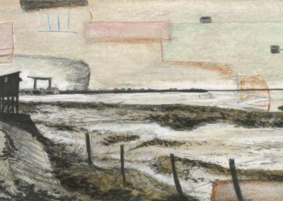 The Broads, Norfolk - walk 3 #88 - mixed media drawing
