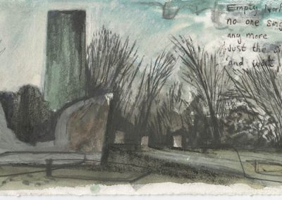 The Broads, Norfolk - walk 5 #02 - mixed media drawing