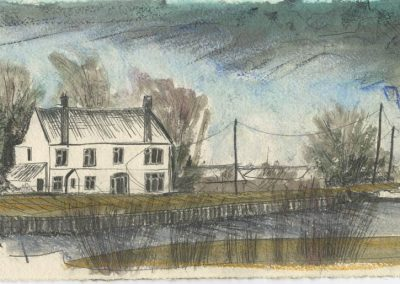 The Broads, Norfolk - walk 5 #06 - mixed media drawing