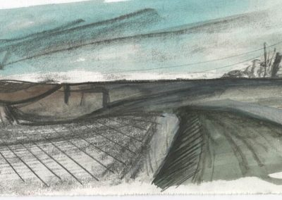 The Broads, Norfolk - walk 5 #10 - mixed media drawing