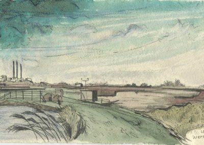 The Broads, Norfolk - walk 5 #11 - mixed media drawing