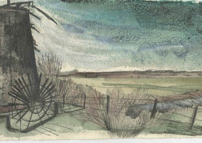 The Broads, Norfolk - walk 5 #16 - mixed media drawing