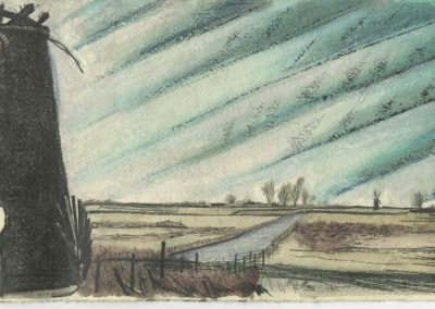 The Broads, Norfolk - walk 5 #17 - mixed media drawing