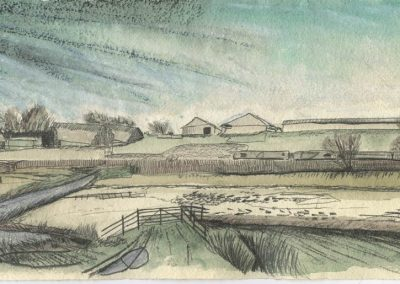 The Broads, Norfolk - walk 5 #19 - mixed media drawing