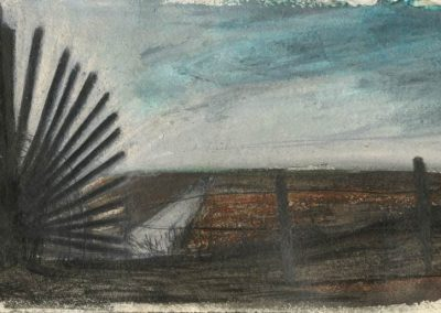 The Broads, Norfolk - walk 5 #26 - mixed media drawing