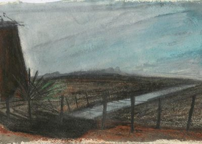 The Broads, Norfolk - walk 5 #27 - mixed media drawing