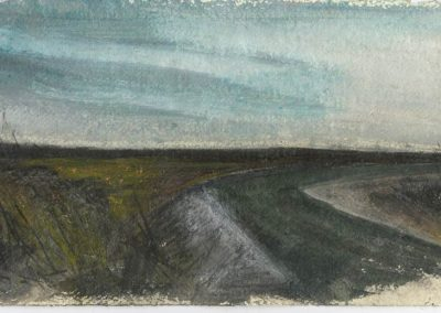 The Broads, Norfolk - walk 5 #28 - mixed media drawing