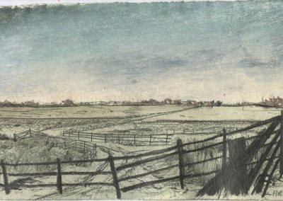 The Broads, Norfolk - walk 5 #29 - mixed media drawing