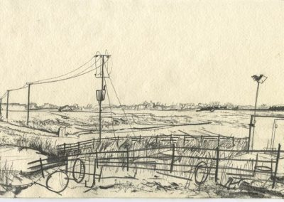 The Broads, Norfolk - walk 5 #31 - mixed media drawing