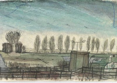 The Broads, Norfolk - walk 5 #32 - mixed media drawing