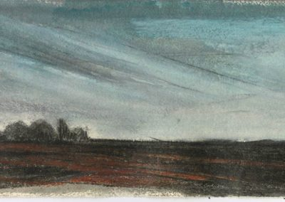 The Broads, Norfolk - walk 5 #35 - mixed media drawing