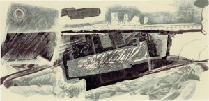 Palimpsest Landscape - The Broads engraving #4 - Neil Bousfield
