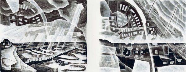 Walcott : Fragile Land - wood engraving by Neil Bousfield