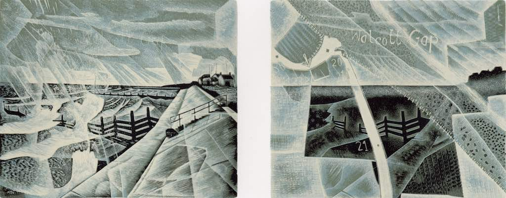 Walcott : Land and Sea - wood engraving by Neil Bousfield