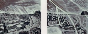 Walcott : Sea Rising - wood engraving by Neil Bousfield