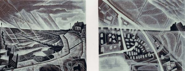 Walcott : Sea Rising - wood engraving by Neil Bousfield