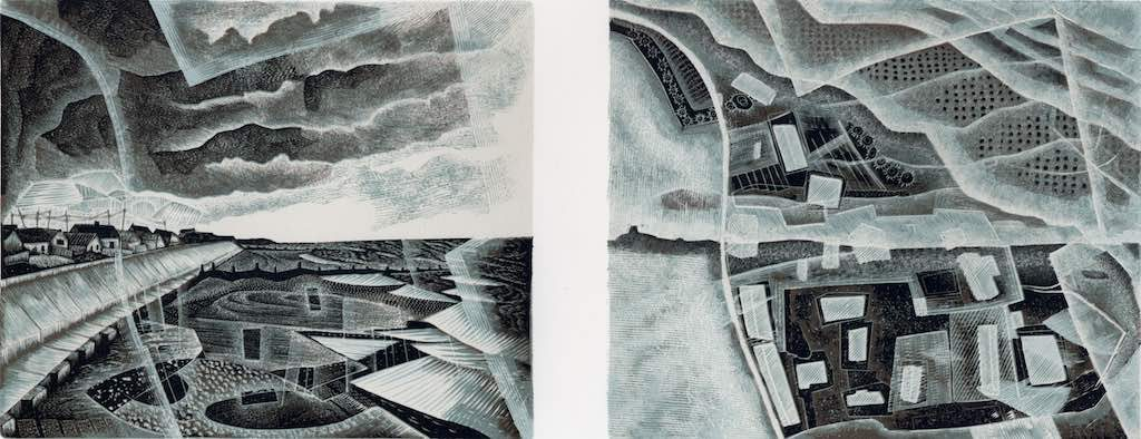 Walcott : Vanishing Land - wood engraving by Neil Bousfield