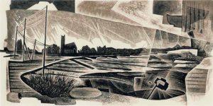 Marsh Lands, Broads engraving #5 - Neil Bousfield