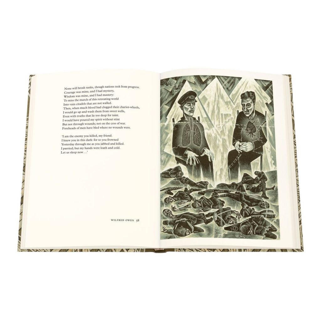 Wilfred Owen Selected Poems, engravings by Neil Bousfield, published by The Folio Society