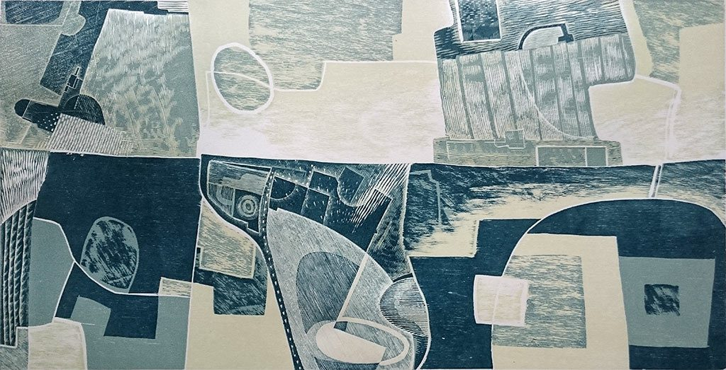 Below the Sea - woodcut and engraving by Neil Bousfield