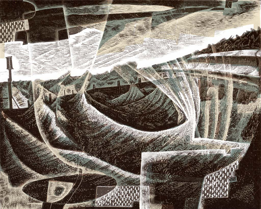 Winter Sea - engraving by Neil Bousfield