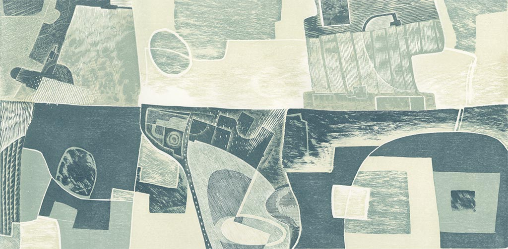 Below The Sea - relief print by Neil Bousfield